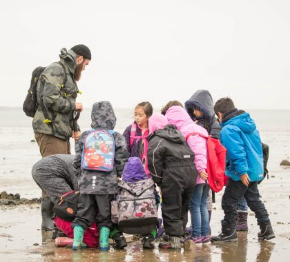 Børn på Vadehavstur